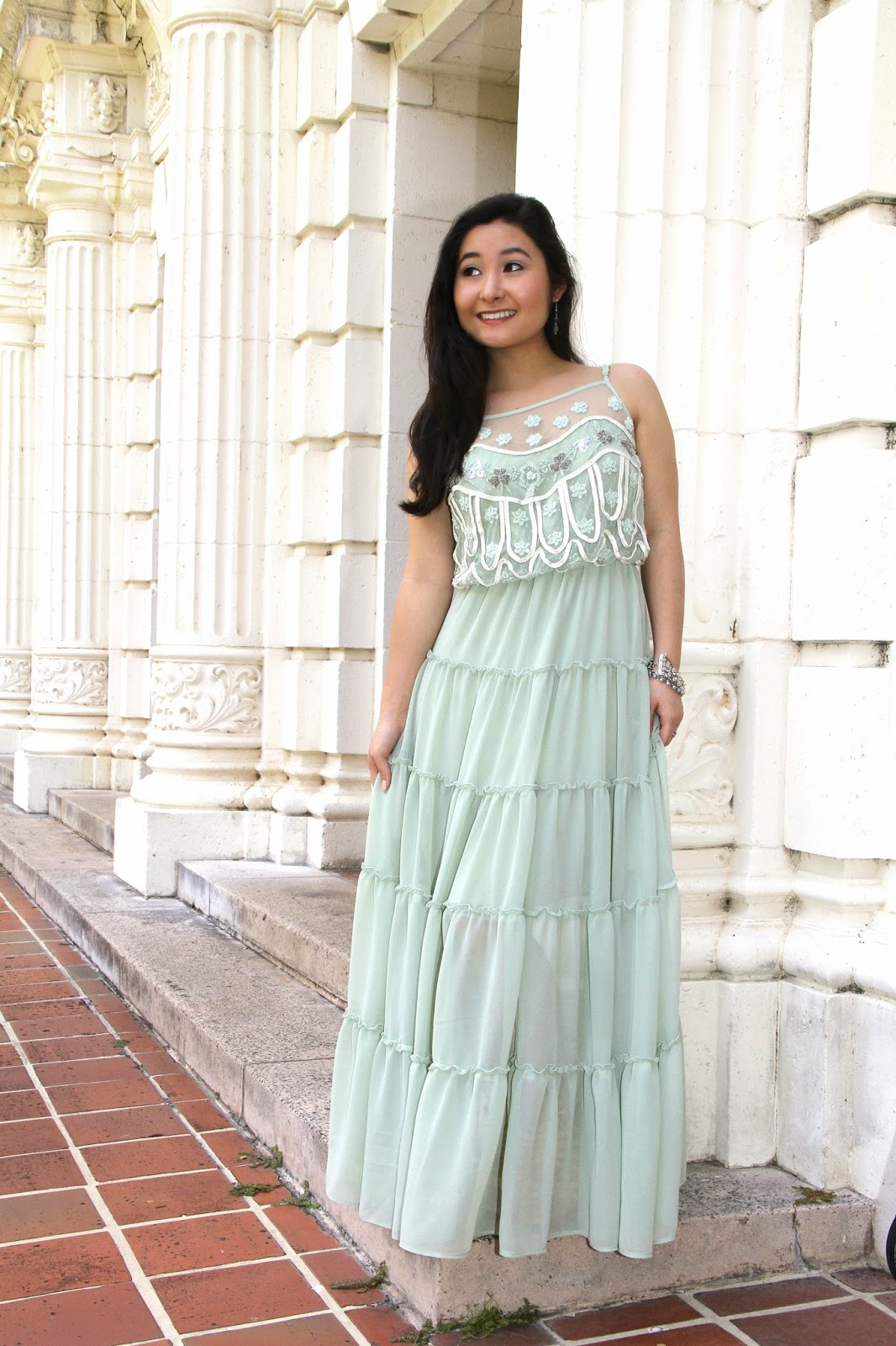 Mint Maxi Dress @ Elizabeth Marie and Me