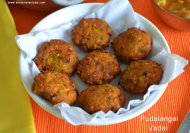 Pudalangai Vadai / Snake Gourd Fritters