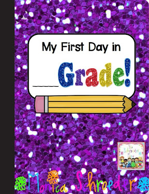 FREE PDF copy of My First Day in _____ Grade FREEBIE! from The Schroeder Page Photo of