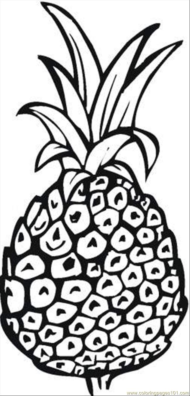 coloring pages for kids pineapple coloring pages for kids