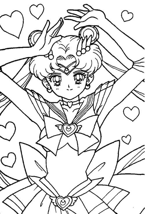 sailor moon free coloring pages - Sailor Moon Coloring Pages 2