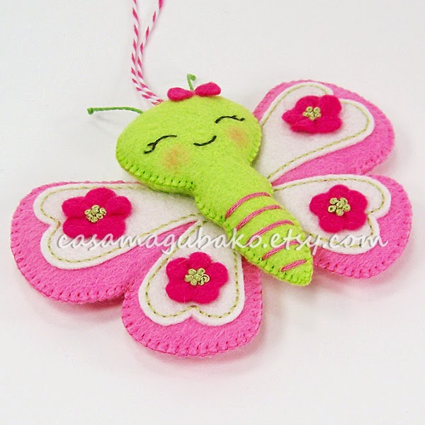 Finished Felt Butterfly by Casa Magubako