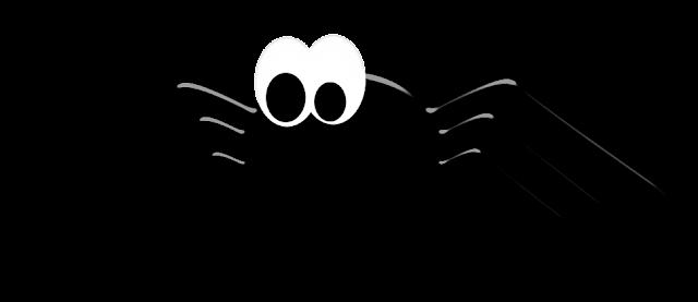 Halloween Aranha desenho colorido com fundo transparente
