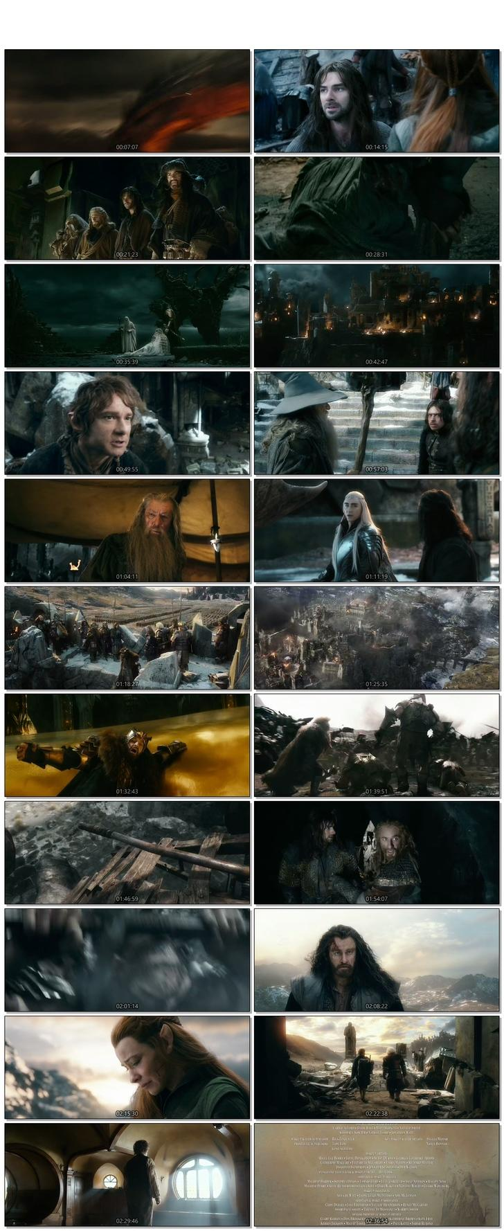 Screen Shot Of The Hobbit The Battle of the Five Armies 2014 300MB Full Movie Hindi Dubbed Free Download 720P BRRip HEVC