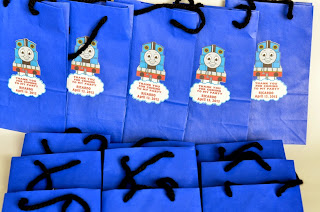 Thomas the Train Invitations, Banner, Goody bags, Door Sign, Cake Topper