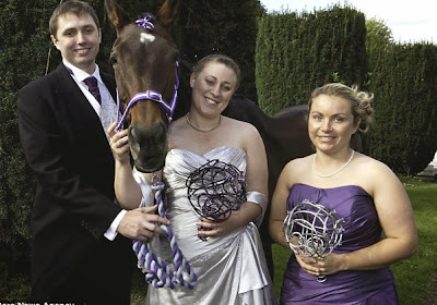 horse wedding funny