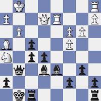 Partida de ajedrez Popel-Llorens del Encuentro de Ajedrez París-Barcelona 1949