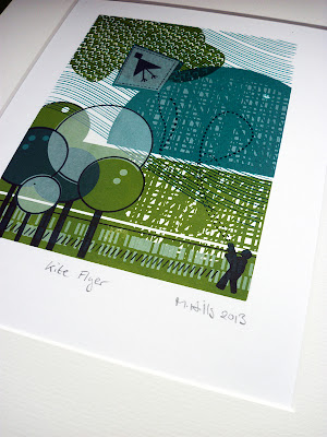 kite flyer - 4 colour screen print