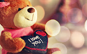 I love you Heart Shaped Pillow Holding Teddy Bear HD Desktop Wallpaper teddy bear love you heart pillow hd desktop wallpaper