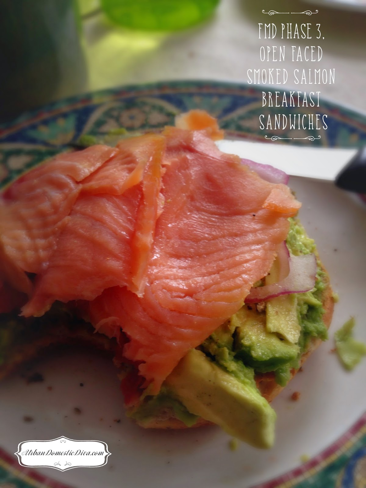 ... : RECIPE: FMD Phase 3, Open Faced Smoked Salmon Breakfast Sandwiches