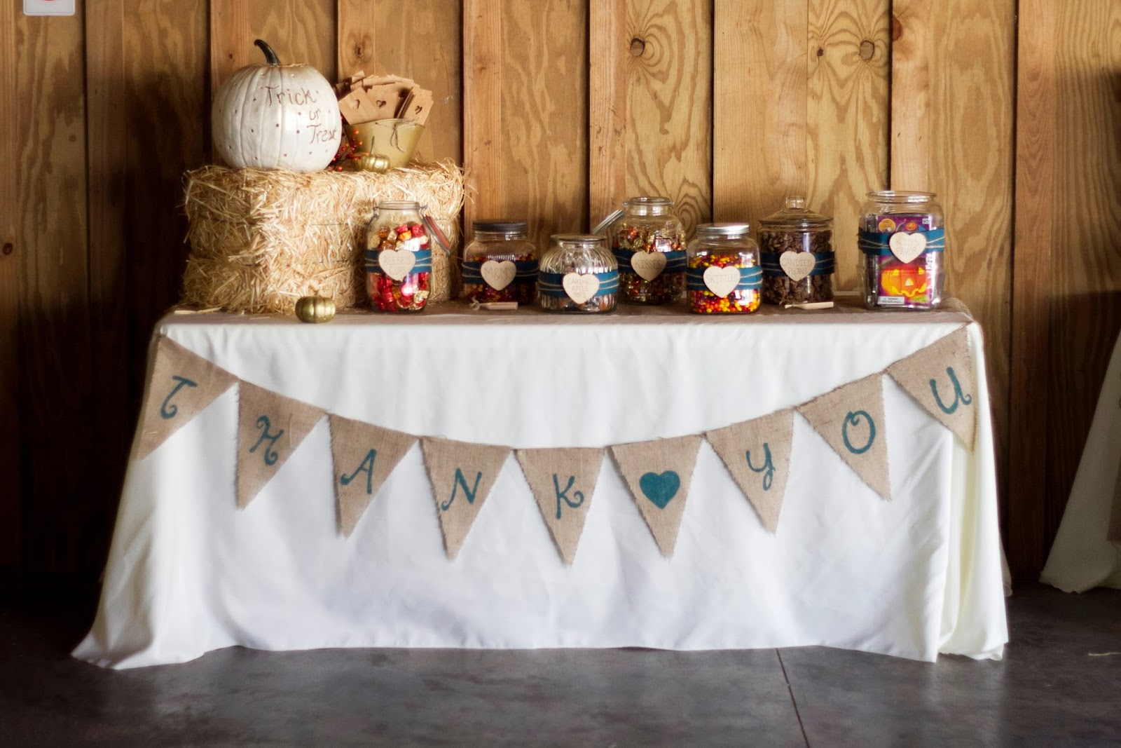 Fall wedding series 6 the candy buffet table create share repeat we decided to set up a candy buffet it was also around halloween so i thought it would be nice for everyone to get a chance to trick or treat watchthetrailerfo