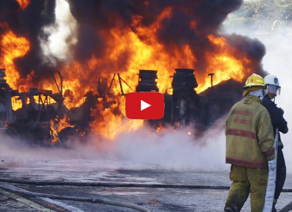 Explotó otra gandola full de gasolina en La Ribereña en el Estado Lara - PDVSA está podrida - VIDEO