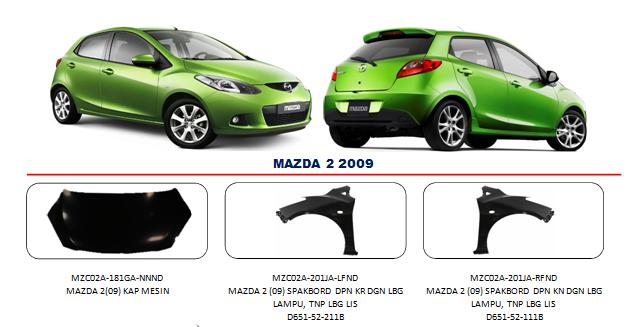 Bodypart Mazda 2 2009