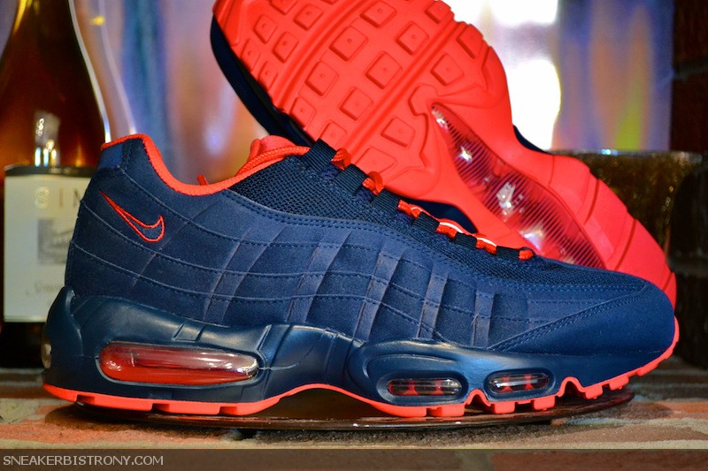 nike air max 95 navy and red