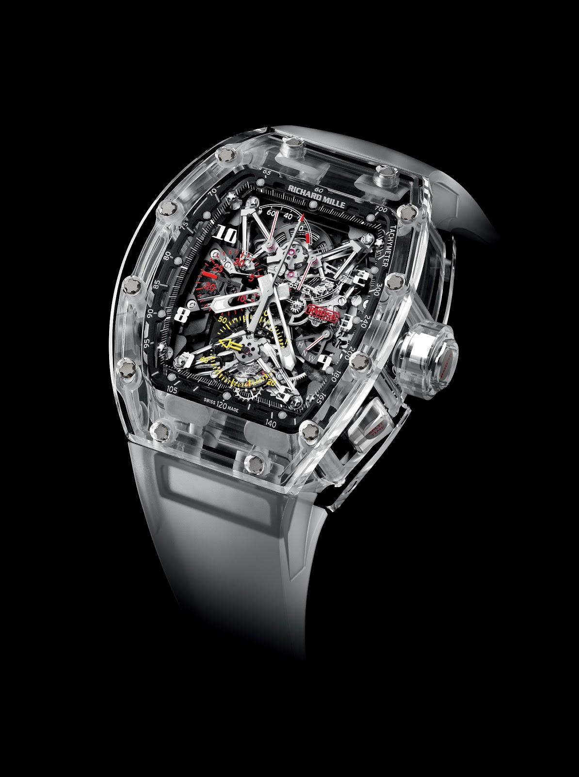 fd8720eb783 O Richard Mille RM 056 Felipe Massa Sapphire foi recentemente eleito Relógio  do Ano nos Prémios Tiempo de Relojes 2012. Estação Cronográfica faz desde  há ...