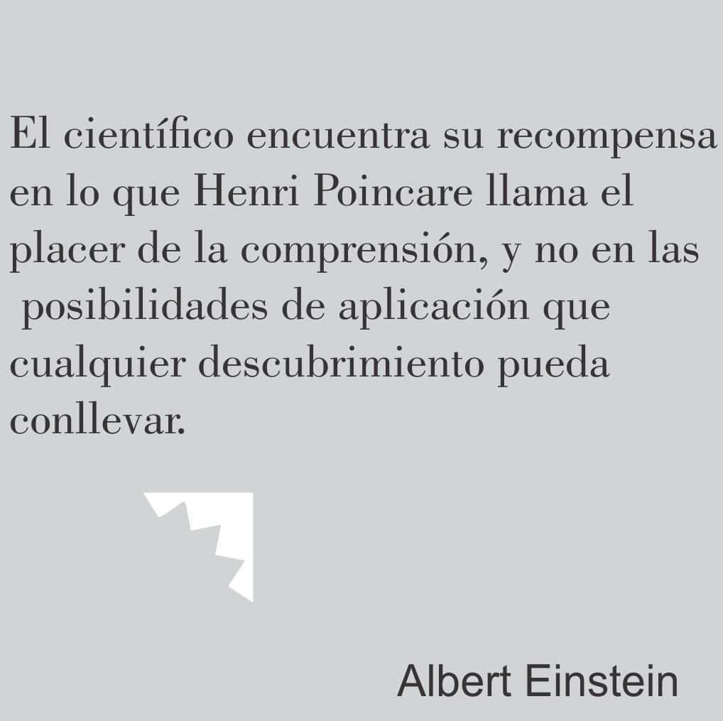 Einstein y la recompensa del cientifico