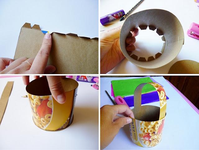 Ahora vamos a elaborar el decorado en papel china para forrarlas.