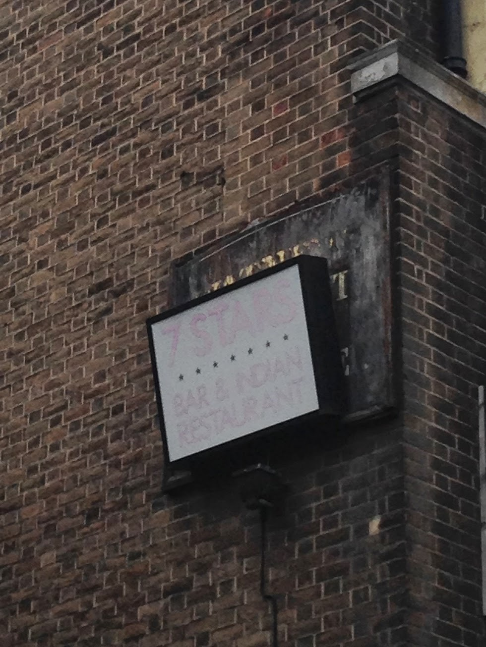 Hidden ghost sign, Shoreditch, London