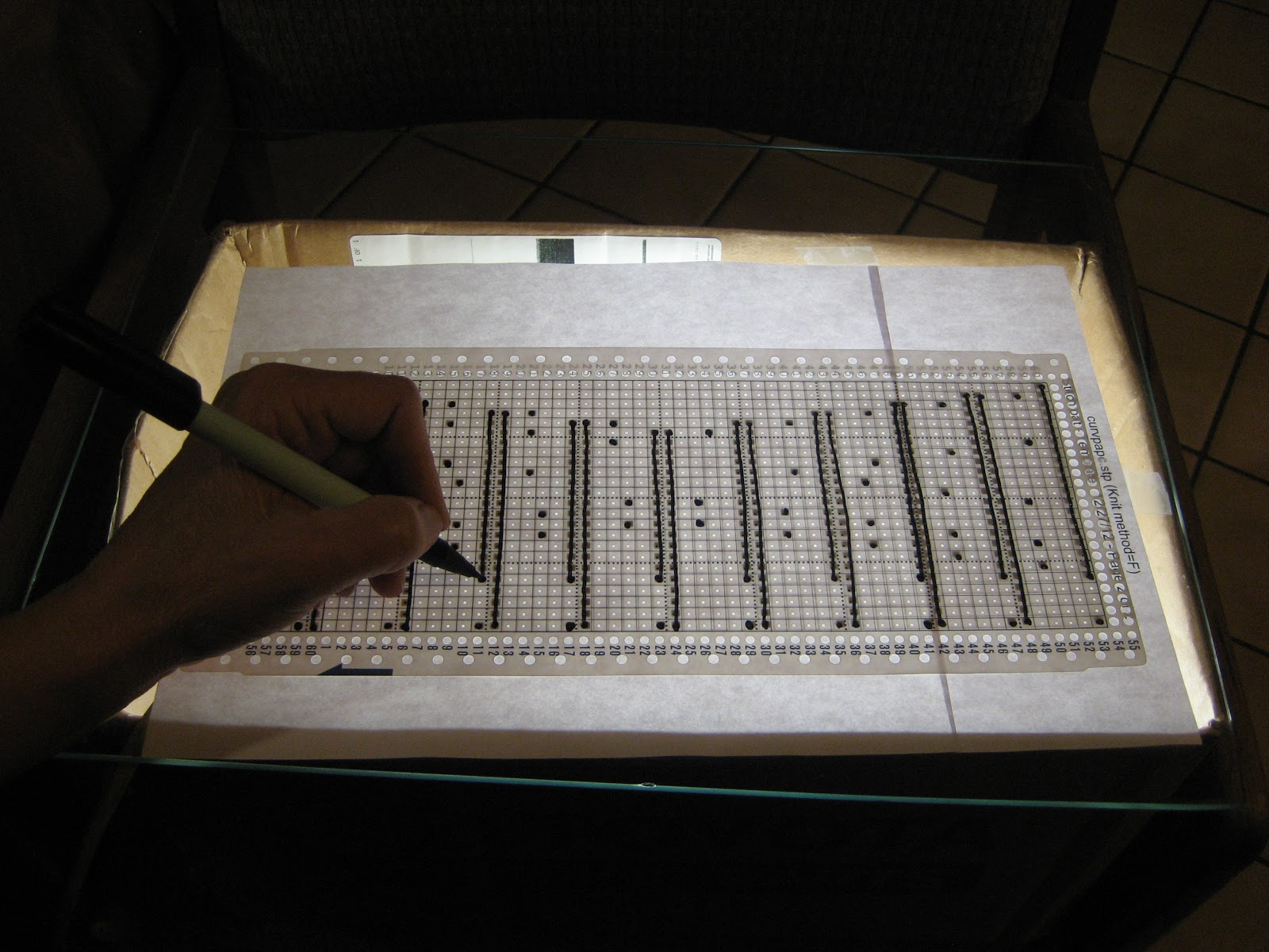 Diana natters on... about machine knitting: Making Punchcards ...