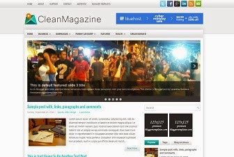 Clean Magazine Blogger Templates