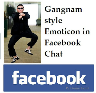 gangnam style emoticon for facebook