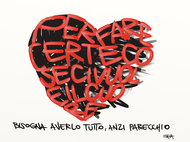 gavavenezia gava satira vignette illustrazioni ridere piangere pensare caricature fumetti  jannacci morte funerale milano