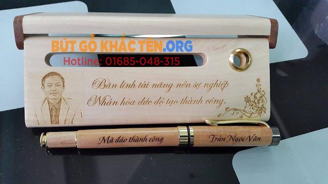 Bút gỗ khắc tên, Bút gỗ khắc chữ, Quà tặng bút gỗ, Bút gỗ đẹp, Bút gỗ ý nghĩa