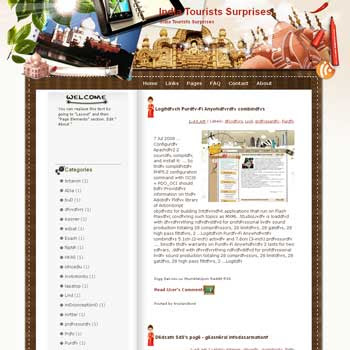 India Tourists Surprises Blogger Template. free download template blogspot