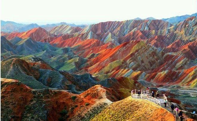 rainbow mountain china