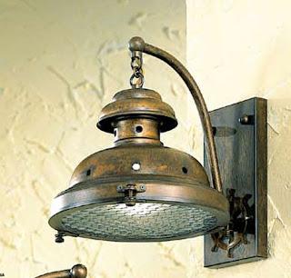 lampara marinera, aplique de pared colonial, iluminacion de salon
