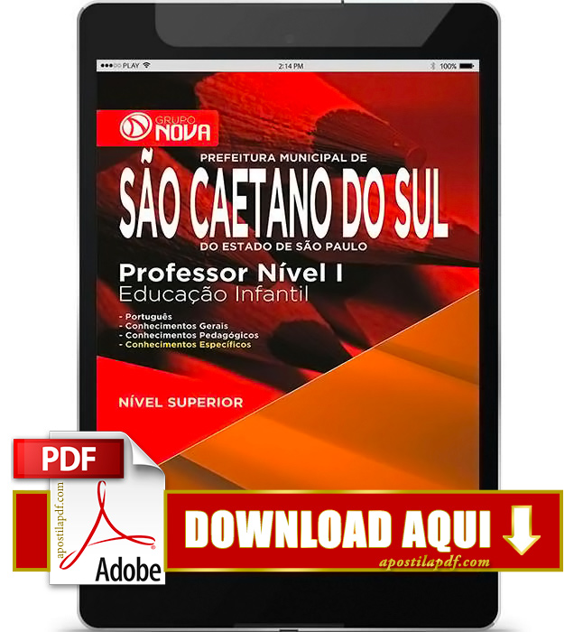 Apostila Prefeitura de São Caetano Professor de Educação Infantil PDF Download