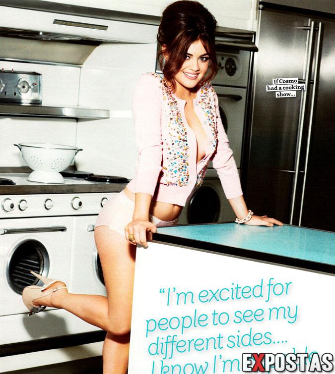 Lucy Hale: Cosmopolitan magazine - Setembro 2012