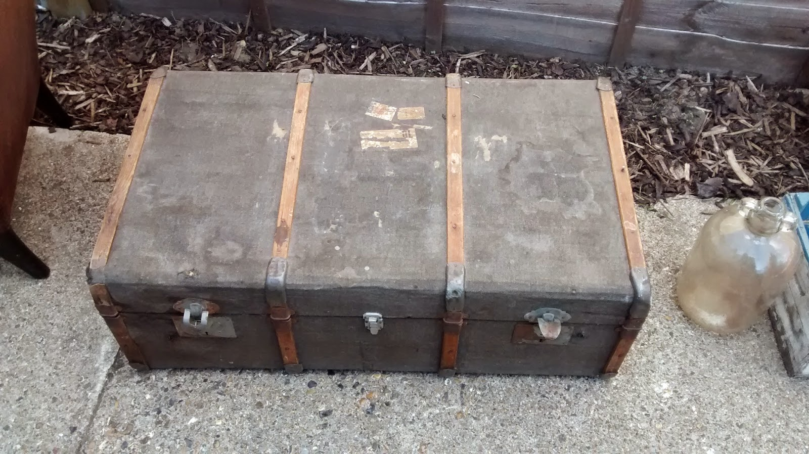 Vintage Steamer Trunk found in a skip