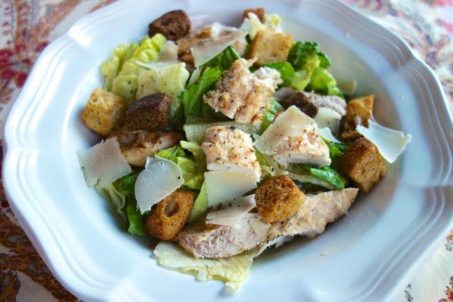 Grilled Chicken Caesar Salad | Plain Chicken