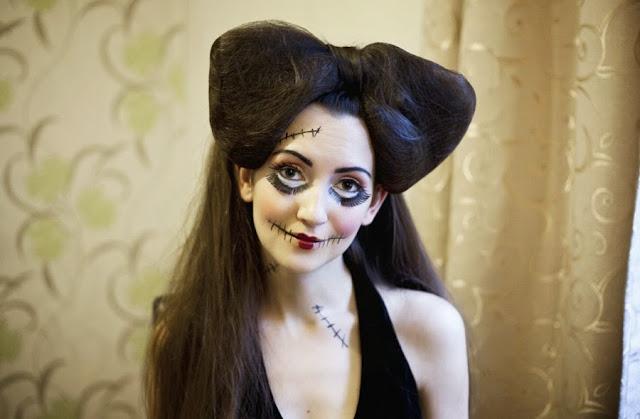 halloween makeup step by step, halloween makeup ideas, hair mua birmingham, rag doll makeup, уроки макияжа, макияж на хэллоувин, идеи макияжа на хэллоувин