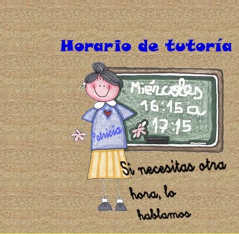 Horario de tutoría