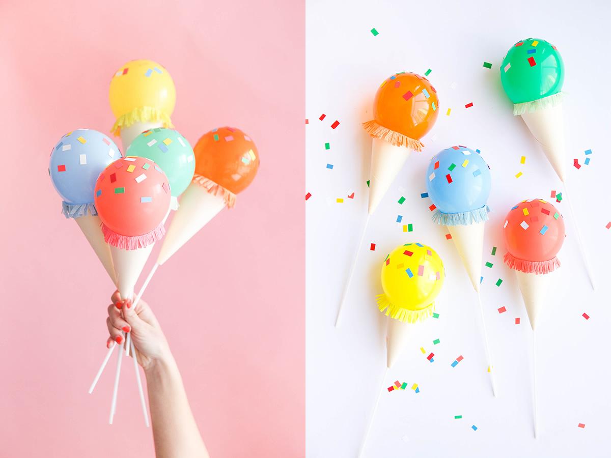 Diy helados para decorar tu fiesta m s chicos - Decoracion cumpleanos infantiles manualidades ...