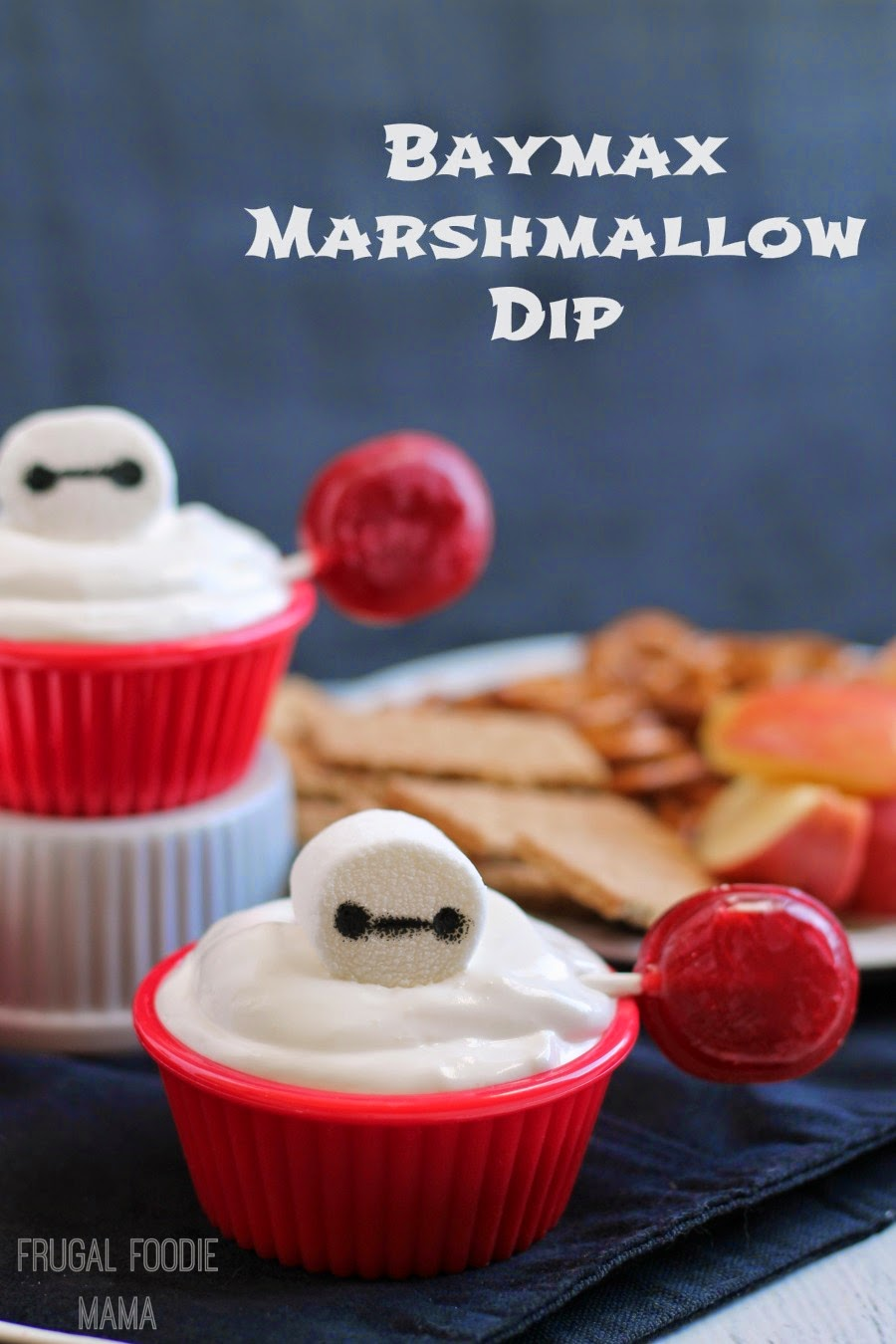 Baymax Marshmallow Dip- the perfect sweet treat for a Big Hero 6 movie night! #BigHero6Release #Ad