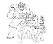 #1 Justice Friends Coloring Page