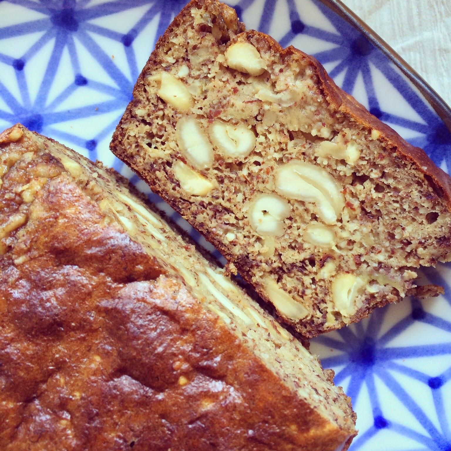 pain bananes sans farine cajou