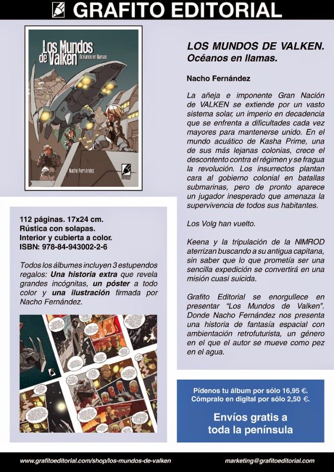 LOS MUNDOS DE VALKEN. OCÉANOS EN LLAMAS - Nacho Fernández