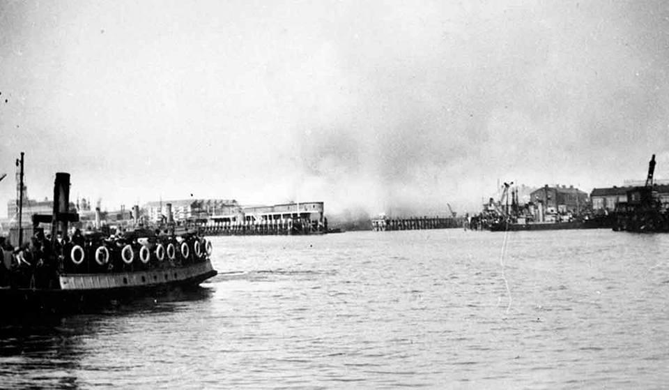 Air raid over Portsmouth Harbour