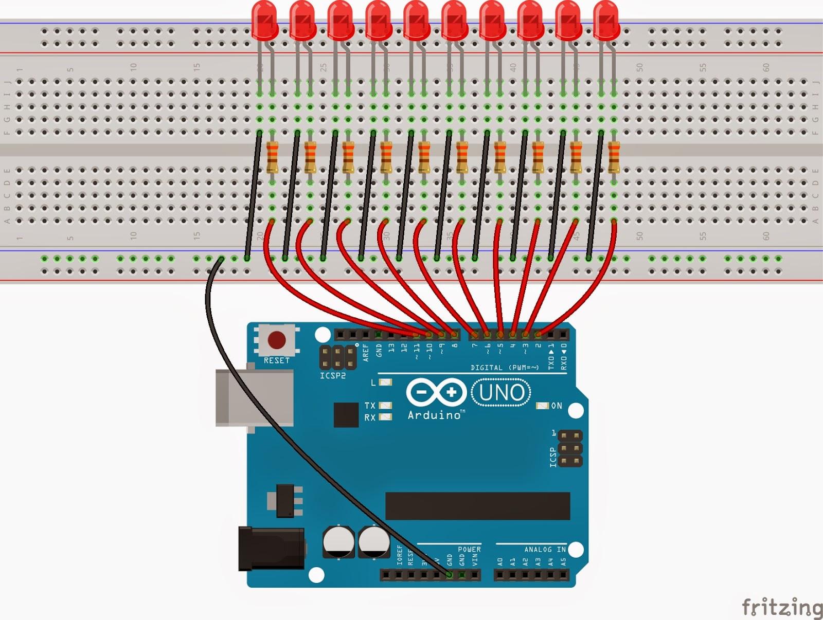 Arduino ile yürüyen işık yapımı elektrik elektronik
