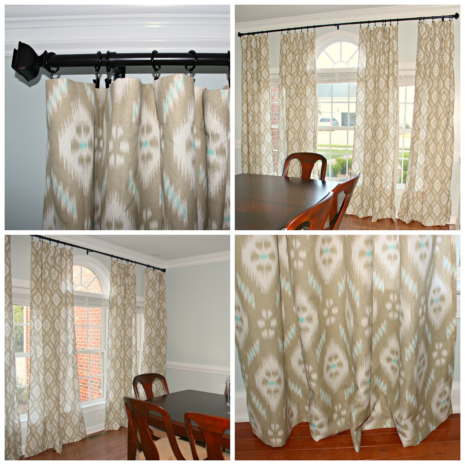 Navy Blue Ikat Curtains Navy Ikat Curtains Pair Of Peacock Curtain Panels  Lime Green
