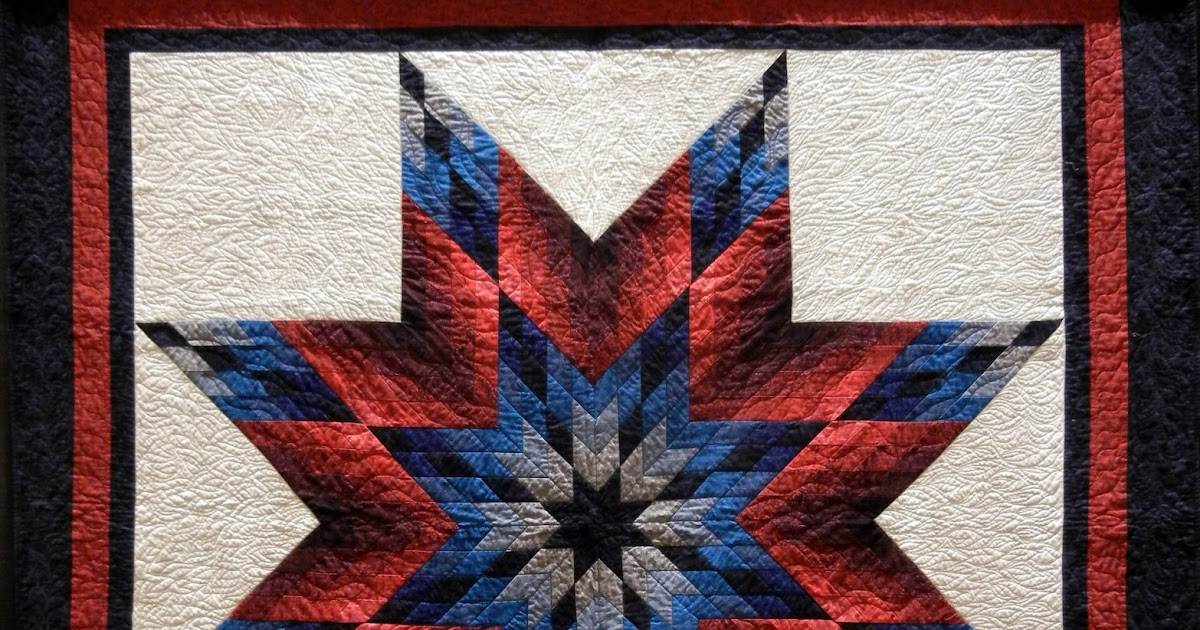 Quilting Pattern For Lone Star : Quilt Inspiration: Lone Star Salute