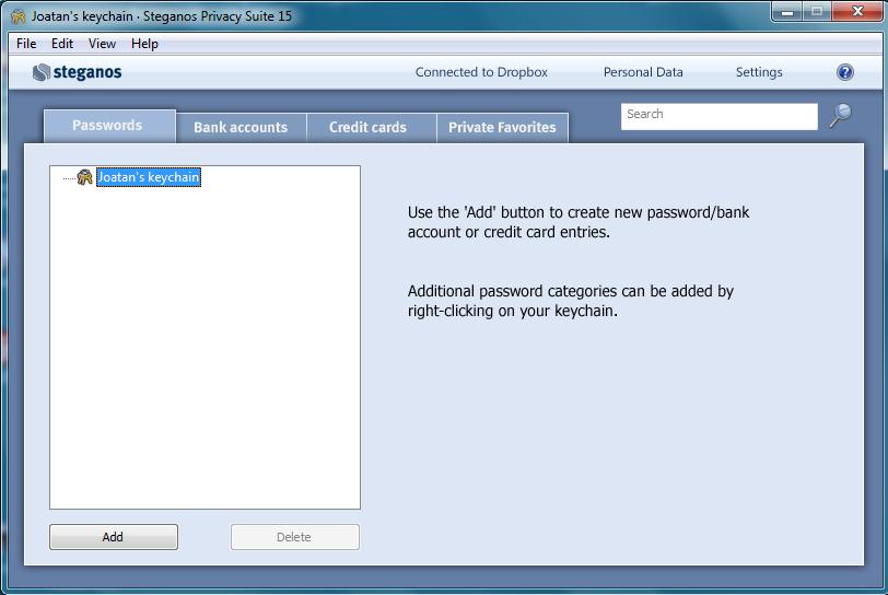 steganos privacy suite 15 passwords