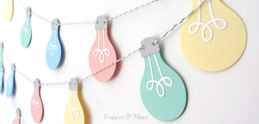 Paper Cafe Light Garland | popperandmimi.com