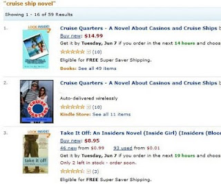 Cruise Quarters paperback and Kindle #1 and #2 Cruise Ship Novel on Amazon