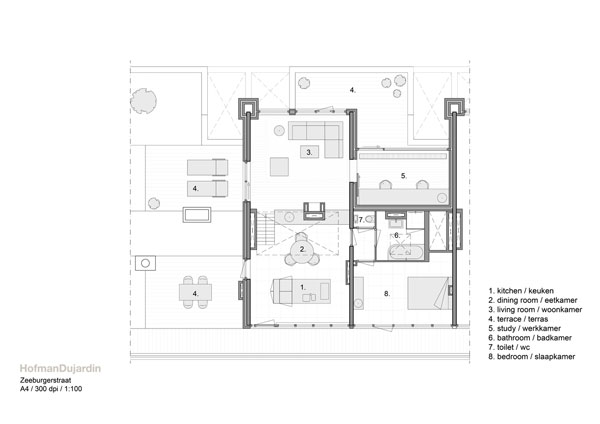 SMALL APARTMENT MODERN DESIGN SKETCH