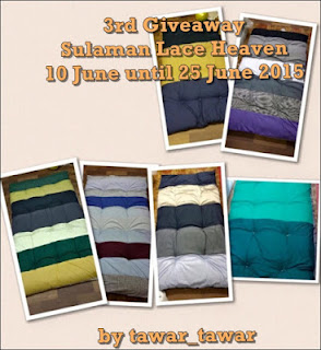 3rd Giveaway Sulaman Lace Heaven | 8.00 malam 25 June 2015